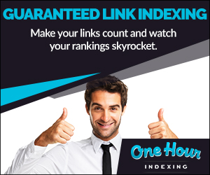OneHourIndexing.co: Get your backlinks indexed in as little as an hour.